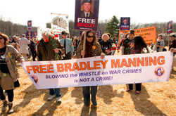 Photo of Free Bradley Manning Protest